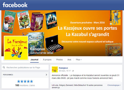 Page Facebook de la Kazajeux